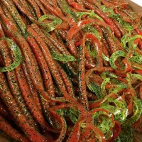 7 inch Worms in color 063 Tomato